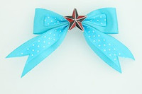 Dot blue / star black-red blue star