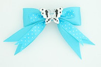 Dot blue / butterfly white blue animal