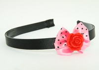 Rose red light pink bow & flower