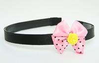 Flower yellow light pink bow & flower