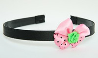 Flower green light pink bow & flower