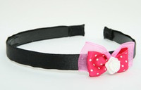 DP flower white dark pink bow & flower