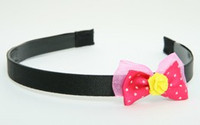DP flower yellow dark pink bow & flower
