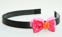 DP flower orange dark pink bow & flower