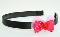 DP flower red dark pink bow & flower