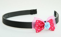 DP flower blue dark pink bow & flower
