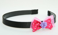Flower purple dark pink bow & flower