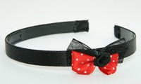 BR flower black red bow & flower