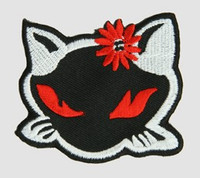Kitty flower Bl-red-Wh animal big