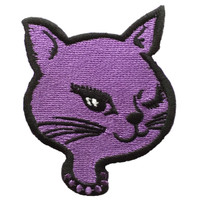 Cat head purple animal big