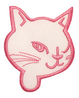 Cat head white-pink animal extra big