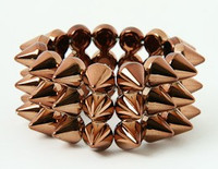 Brown spiky studs bracelet