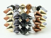 BL-S-BR-G-GR spiky studs bracelet