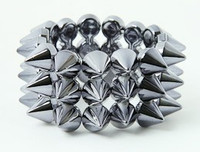 Grey spiky studs bracelet