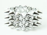 Silver spiky studs bracelet