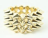 Gold spiky studs bracelet