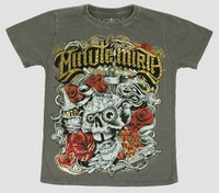 Front - Skull rose grey minute mirth