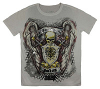 Front - Skull shield white minute mirth