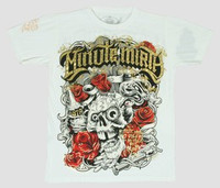 Front - Skull rose white minute mirth