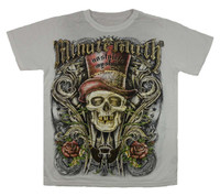 Front - Skull hat white minute mirth