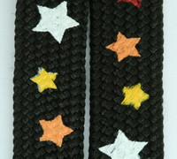 Star black-wh-red-orange-yellow star shoelace