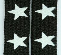Star big black-white star shoelace