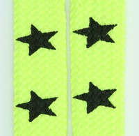 Star big yellow star shoelace
