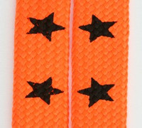 Star big orange star shoelace
