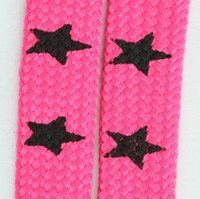 Star big pink star shoelace