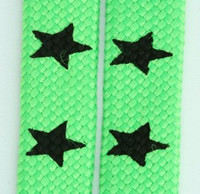 Star big green star shoelace