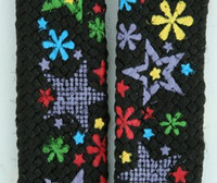 Star flower black star shoelace