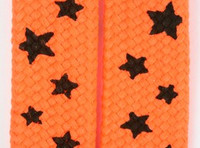 Star S orange-black star shoelace