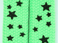 Star S green-black star shoelace