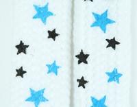 Star S white-blue-black star shoelace