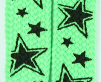 Star line green star shoelace