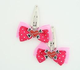 D.Pink / heart bone red-black dark pink sweet