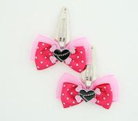 D.Pink / heart bone black-pink dark pink sweet