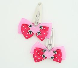 D.Pink / heart bone pink-black dark pink sweet