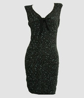 Front - DV leopard grey V neck pin up