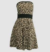 Front - DB leopard brown strapless pin up