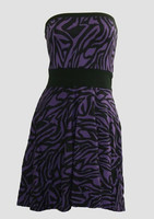Front - DB zebra purple strapless pin up