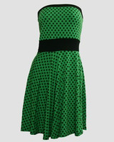 DB dot L green strapless pin up