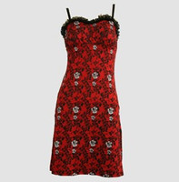 Front - DL skull rose red lace pin up