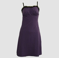 Front - DL dot L purple lace pin up