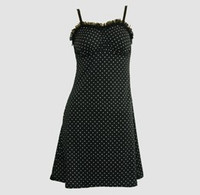 Front - DL dot S black-white lace pin up