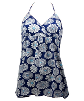 Front - PL flower blue lace top pin up