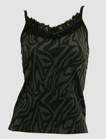 Front - PL zebra grey lace top pin up