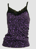 Front - PL leopard purple lace top pin up