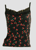 Front - PL cherry lace top pin up