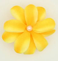M C pearl yellow medium flower